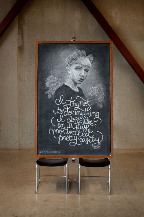chalkboard messages by Dangerdust