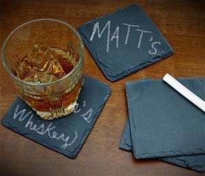 Playful Chalkboard Mug Mats