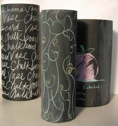 Chalkboard Vases Too Cool For School