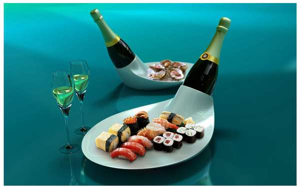 champagne dish by EUN Design