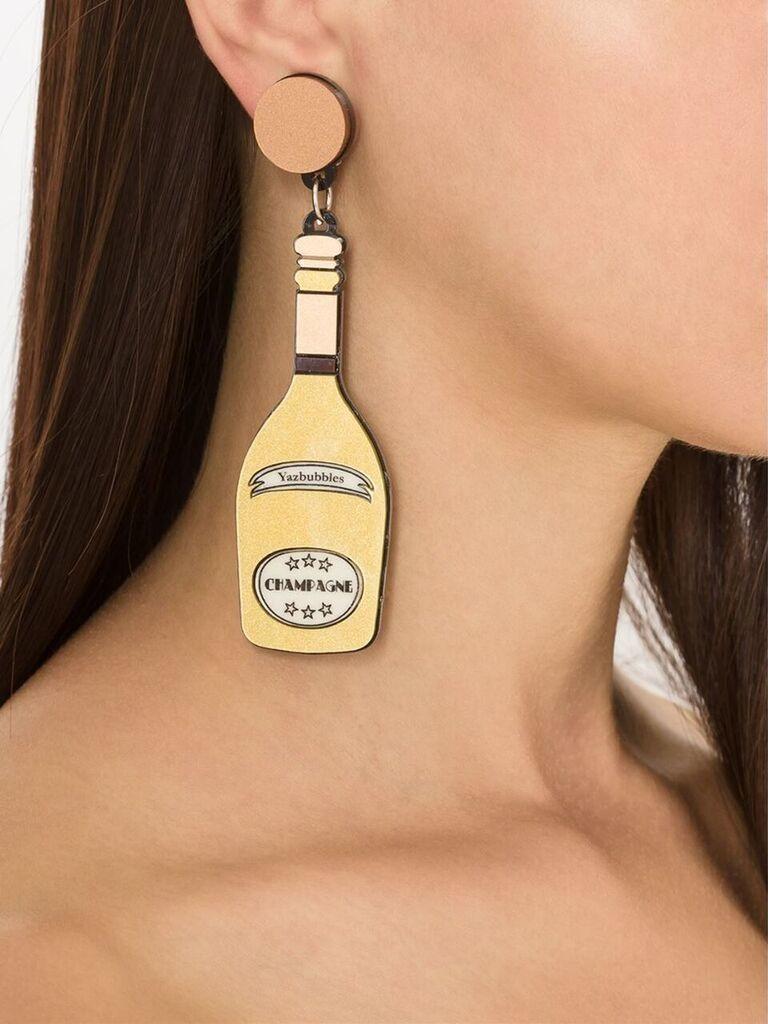Kitschy Champagne Earrings