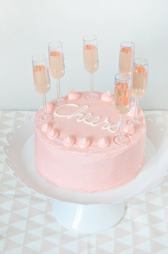 Festive Champagne Flute Cakes