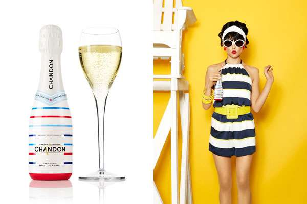 Patriotic Champagne Bottles