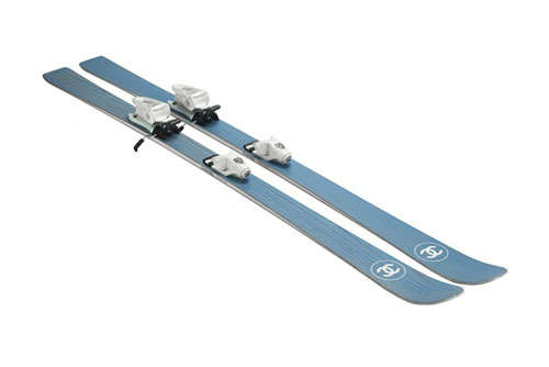 chanel blue parabolic skis