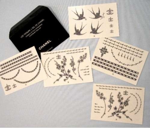Temporary Chanel Tattoos