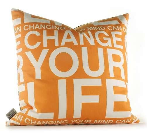 Positivity Can Changeyour Life: Positive Mantra Pillows: Inhabit 'Change Your Life In