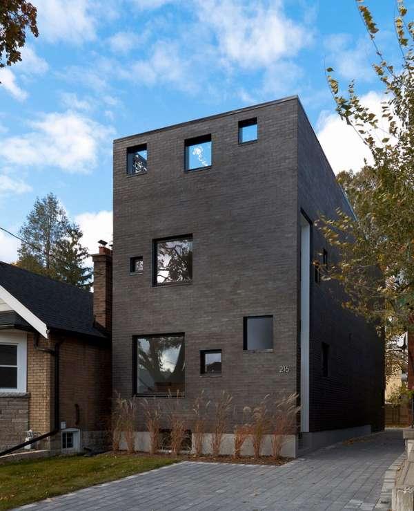 Rectangular Houses smoky rectangular abodes : charcoal houseatelier rzlbd