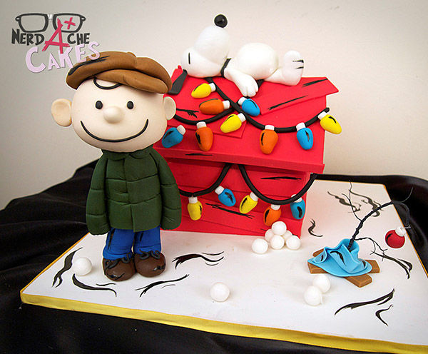charlie brown christmas cake
