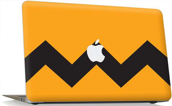 charlie brown macbook decal