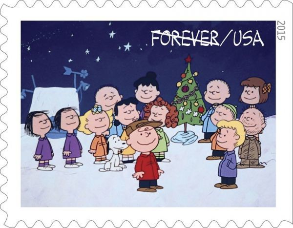 Cartoon Christmas Stamps