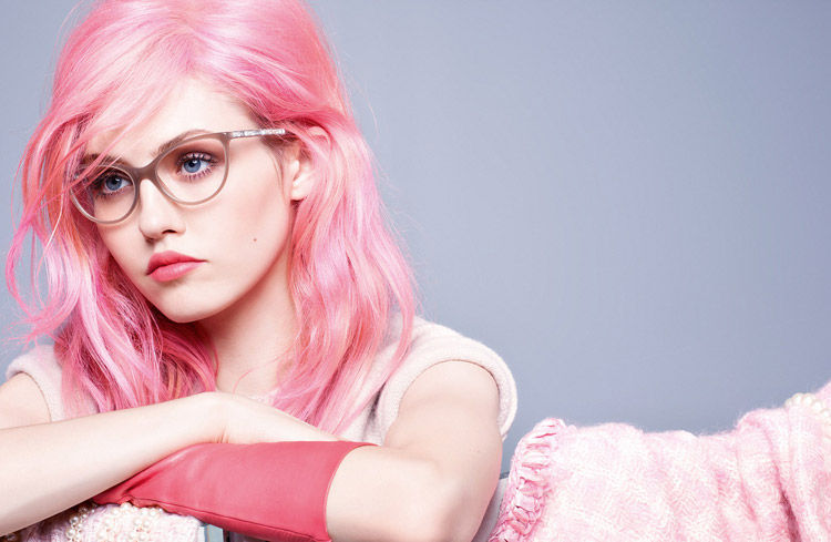 Pink-Haired Eyewear Campaigns