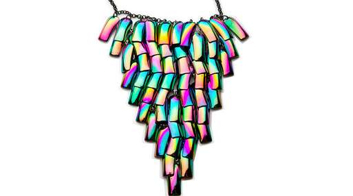 Fluorescent Fake Nail Necklaces