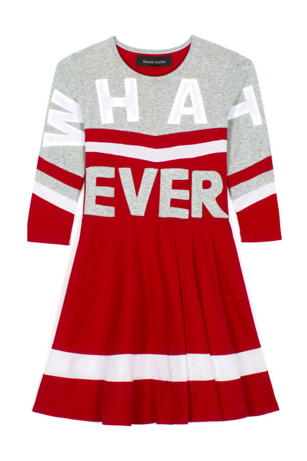 Satirically Sloganed Cheerleader Frocks