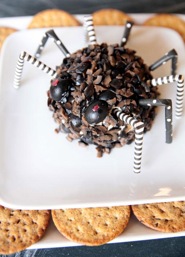 Spooky Appetizer Cheeseballs