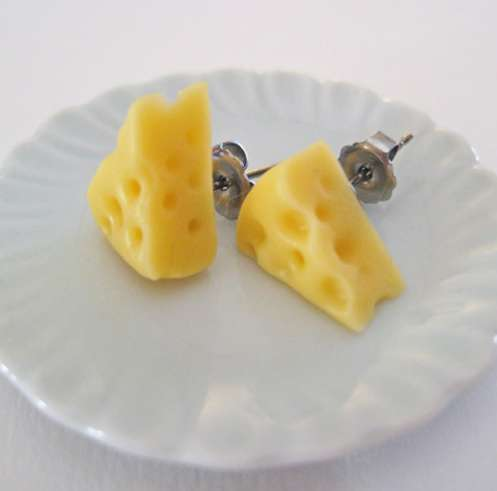 Cheese Wedge Earrings