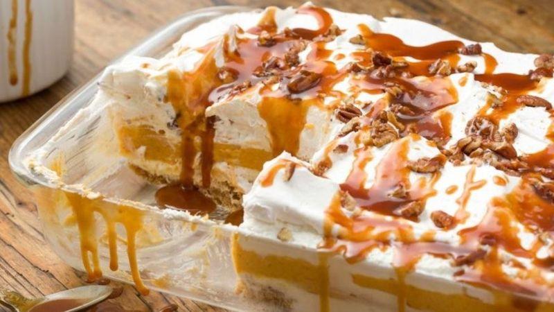 Pumpkin Cheesecake Lasagnas