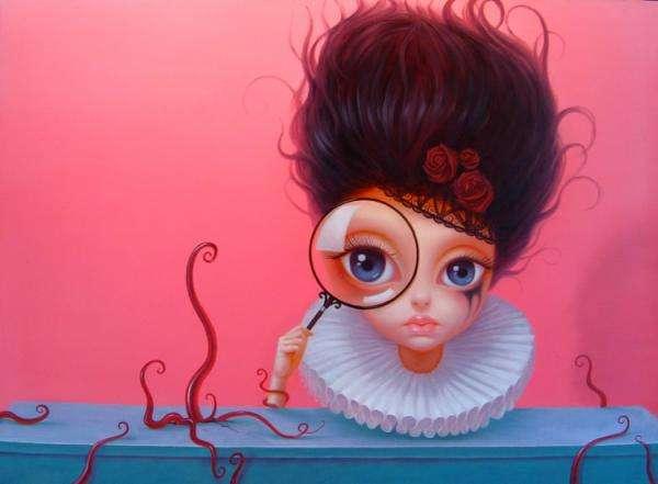 Bulgy-Eyed Beauty Paintings