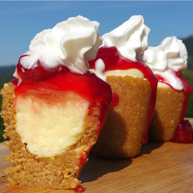 Cherry Cheesecake Shooters : cherry cheesecake shooters