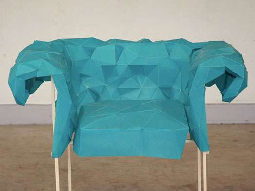 Aquamarine Paper Furniture