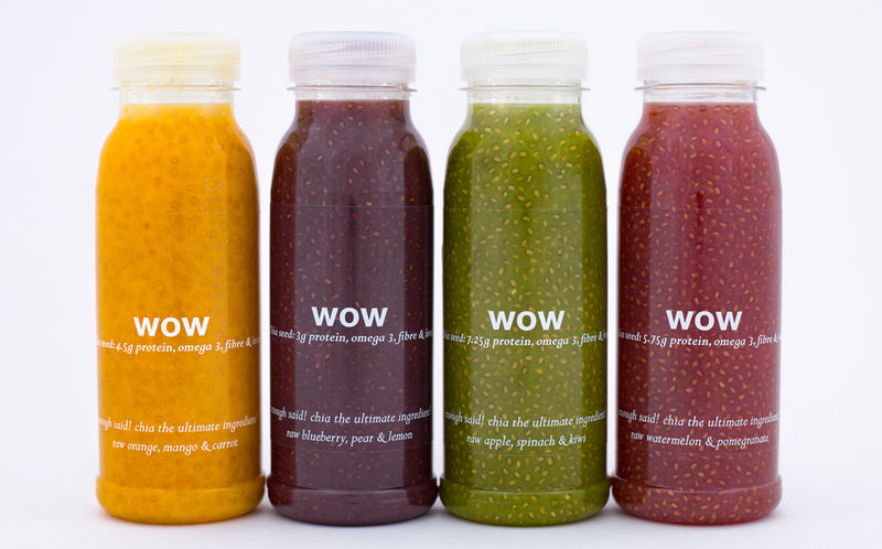 Cold-Pressed Chia Seed Drinks