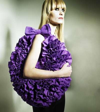 Chic Ruffled Handbags