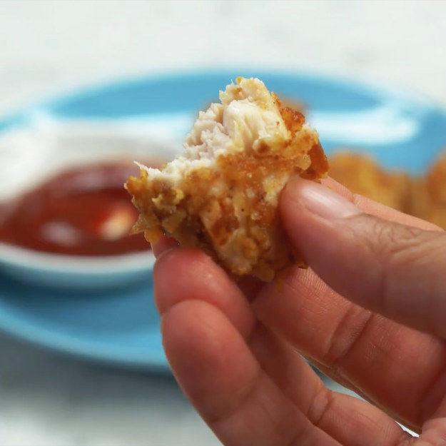 Pretzel Chicken Nuggets