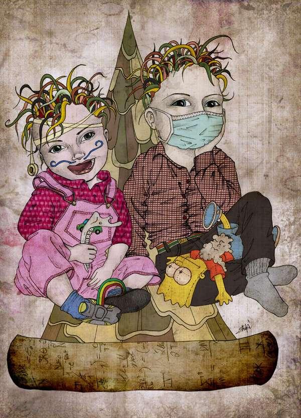 Brainy Newborn Art