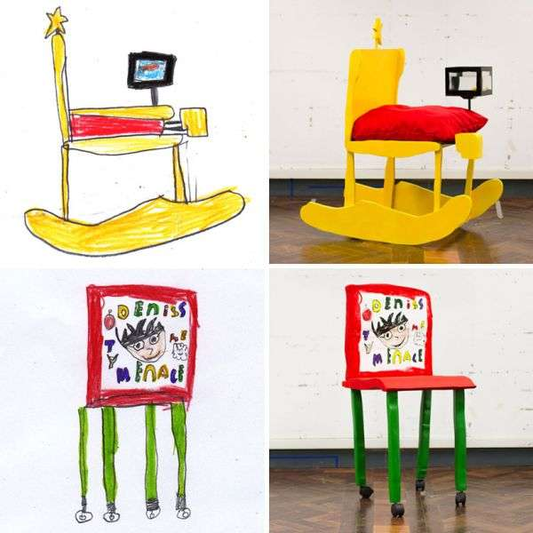 Kid-Drawn Furniture Designs