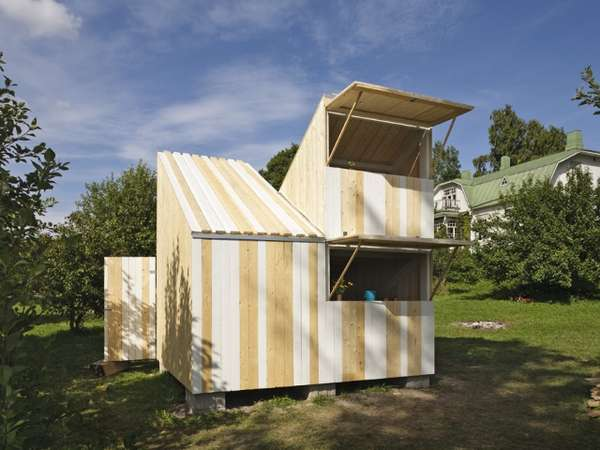 Modernized Wood Shacks