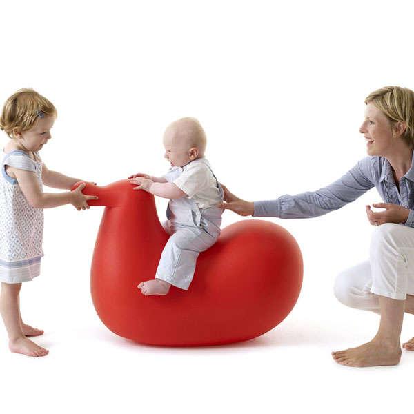 Baby-Cradling Bird Chairs