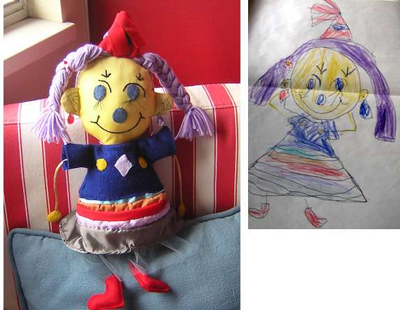 Kiddie Sketch-Inspired Dolls