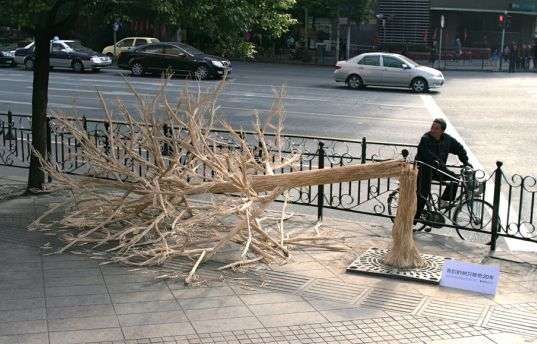 Chopstick Tree Art
