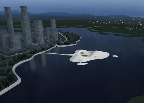 Sting Ray-Inspired Floating Museums