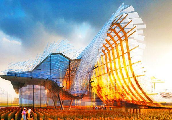 Wave-Like Pavilions