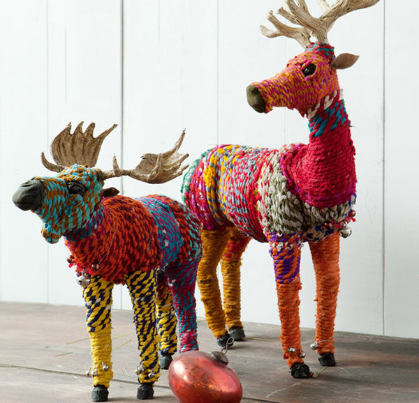 DIY Rainbow Reindeer Ornament s