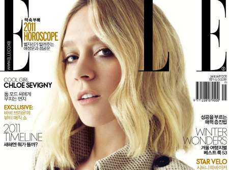 chloe sevigny elle korea january 2011
