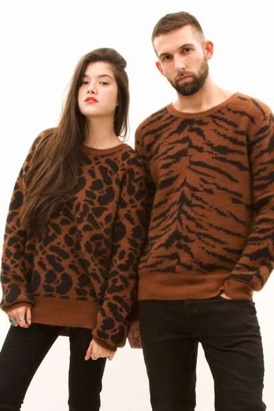 Animal Sweaters for Couples