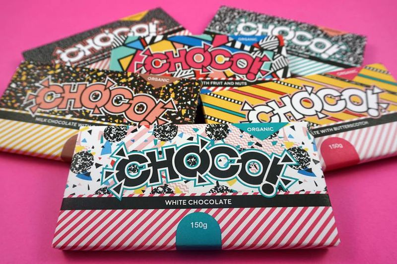 Cheerful Chocolate Bar Labels