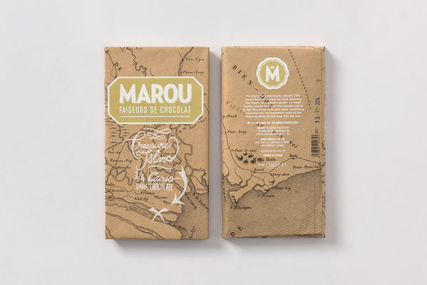 Treasure Map Chocolate Branding
