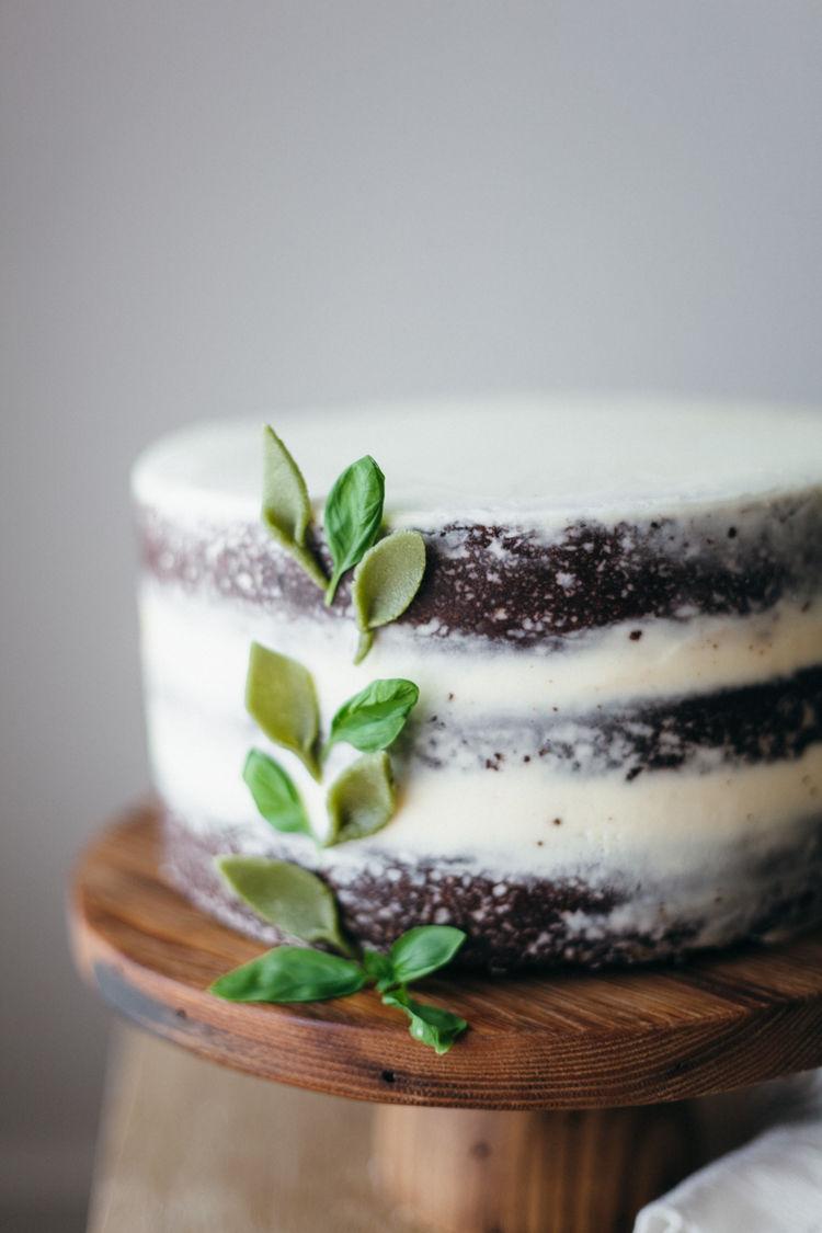 Basil Mascarpone Cakes
