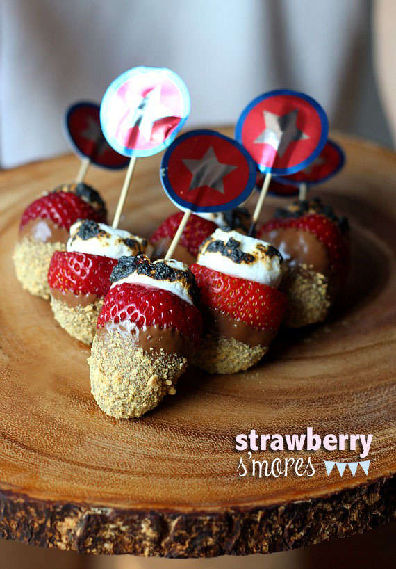 Smore-Infused Strawberries