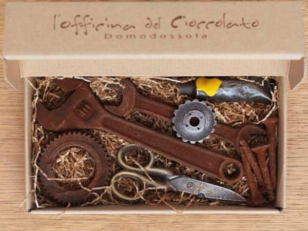 Rustic Chocolate-Made Tools
