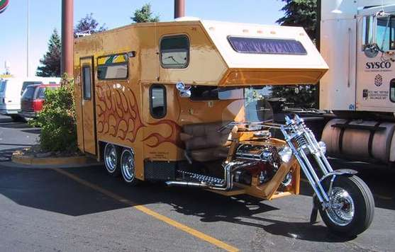 chopper rvs badass camping gear