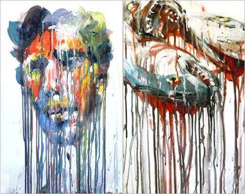 Colorful Melting Faces