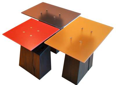 Tables From Salvaged Materials