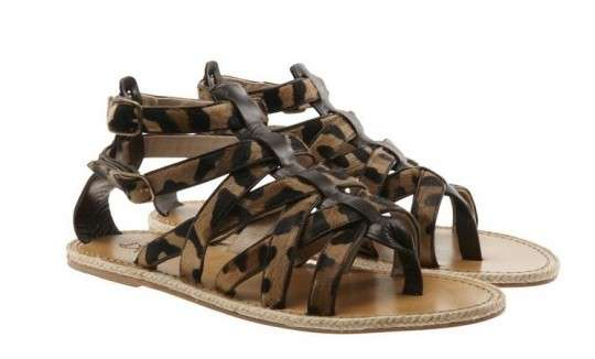 Strappy Animalistic Sandals