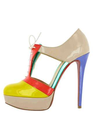 Humdrum Color Blocked Heels