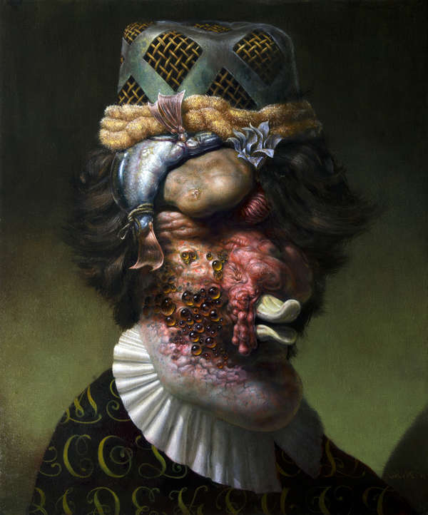 Grotesquely Morphed Classic Portraits