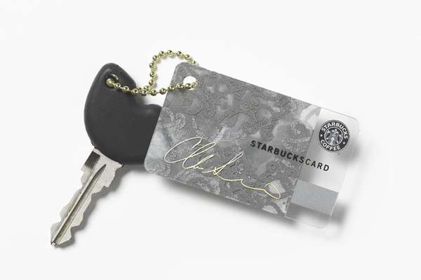 Designer Keychain Coffee Cards