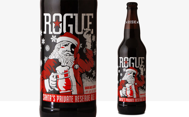 Santa-Clad Beer Branding